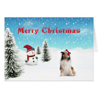 Tarjeta de Navidad del collie