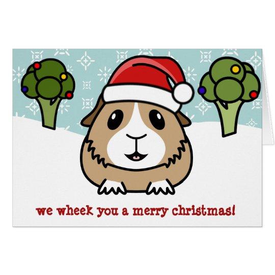 Tarjeta de Navidad del conejillo de Indias del
