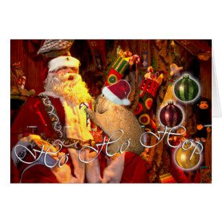 Tarjeta de Navidad del conejito 3