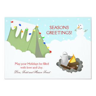 Tarjeta de Navidad del día de fiesta de la nieve Invitación 12,7 X 17,8 Cm