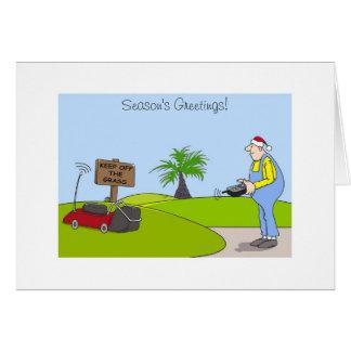 Tarjeta de Navidad del dibujo animado para los
