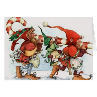 Tarjeta de Navidad del duende