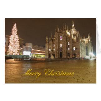 Tarjeta de Navidad del Duomo de Milano