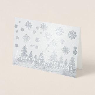 Tarjeta de Navidad del efecto metalizado del
