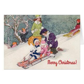 Tarjeta de Navidad del ejemplo del vintage