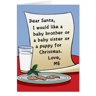Tarjeta de Navidad del embarazo que espera otra