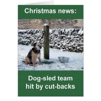 tarjeta de Navidad del equipo del Perro-trineo