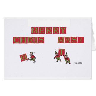 Tarjeta de Navidad del error tipográfico del