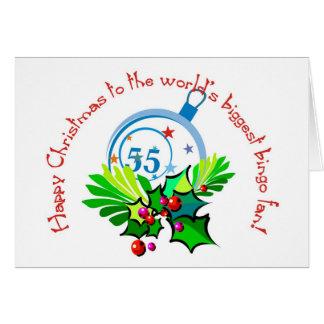 Tarjeta de Navidad del fan del bingo