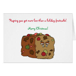 Tarjeta de Navidad del Fruitcake