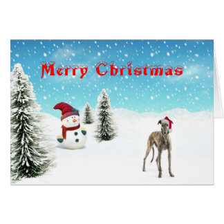 Tarjeta de Navidad del galgo