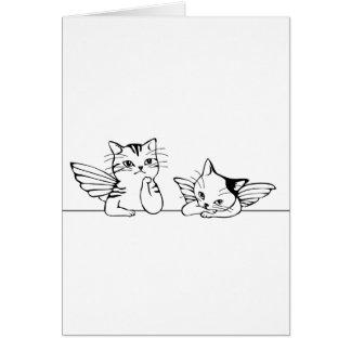 Tarjeta de Navidad del gatito del ángel