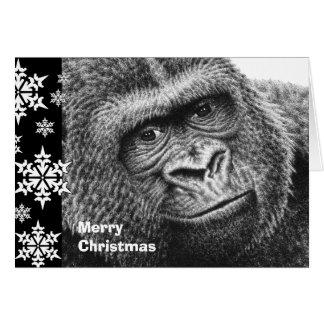 Tarjeta de Navidad del gorila