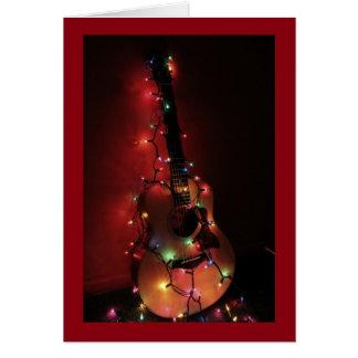 Tarjeta de Navidad del guitarrista