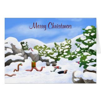 tarjeta de Navidad del gusano