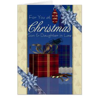 Tarjeta de Navidad del hijo y de la nuera -