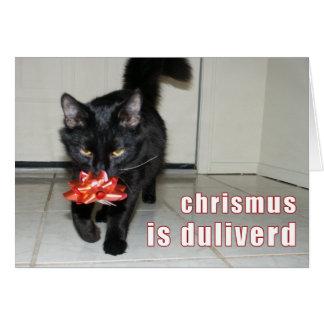tarjeta de Navidad del lolcat