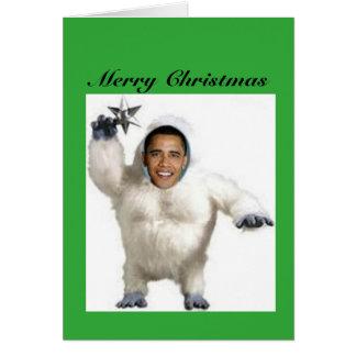 Tarjeta de Navidad del muñeco de nieve de
