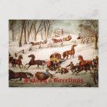 Tarjeta de Navidad del negocio de Sleighing