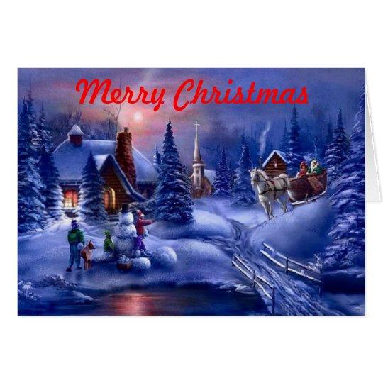 Tarjeta de Navidad del país