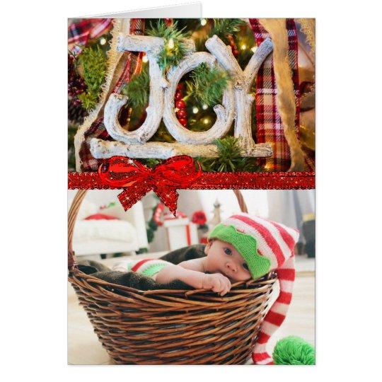 Tarjeta de Navidad del país de la alegría con su