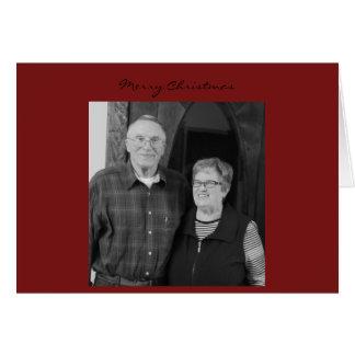 Tarjeta de Navidad del papá de la mamá