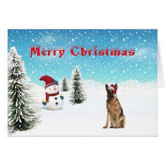 Tarjeta de Navidad del pastor alemán