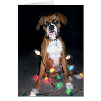 Tarjeta de Navidad del perrito