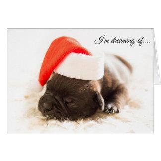 """Tarjeta de Navidad del perrito de """"Howlidays"""