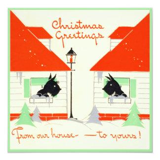 Tarjeta de Navidad del perro del escocés del