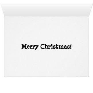 Tarjeta de Navidad del perro del reno de las
