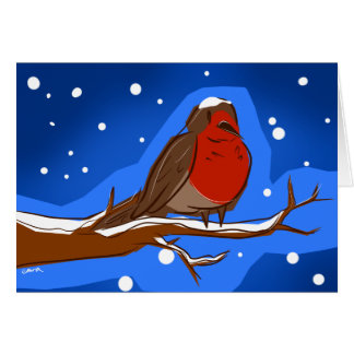 Tarjeta de Navidad del petirrojo