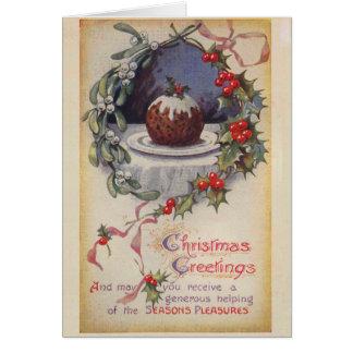 Tarjeta de Navidad del pudín de Figgy del