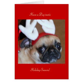 Tarjeta de Navidad del reno del barro amasado