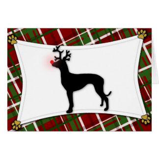 Tarjeta de Navidad del reno del perro del Pharaoh