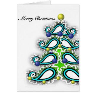 Tarjeta de Navidad del saludo con diseño persa