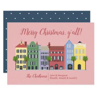 Tarjeta de Navidad del SC de Charleston de la fila