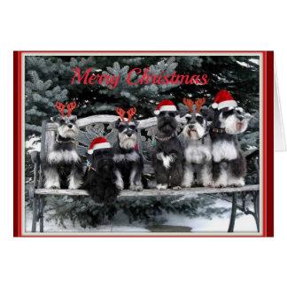 Tarjeta de Navidad del Schnauzer