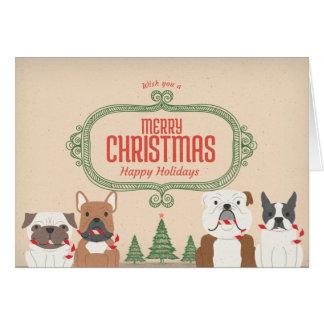 Tarjeta de Navidad del SNORT del vintage