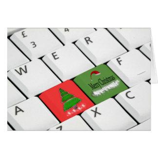 Tarjeta de Navidad del teclado de ordenador