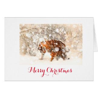 Tarjeta de Navidad del tigre