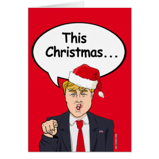 Tarjeta de Navidad del triunfo - esta el navidad