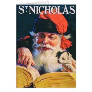 Tarjeta de Navidad del vintage con la portada de