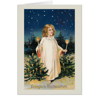 "Tarjeta Tarjeta de Navidad del vintage de ""Gesegnete"
