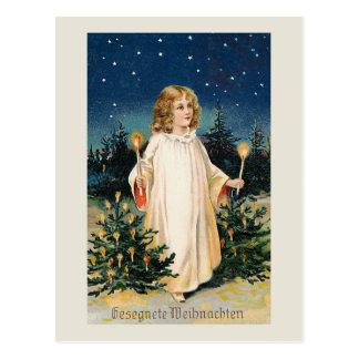 """Tarjeta de Navidad del vintage de """"Gesegnete"""