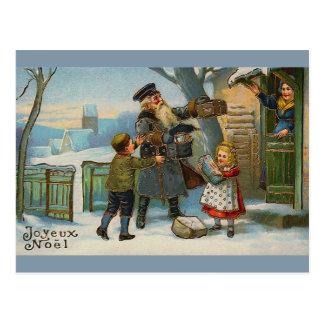 """""""Tarjeta de Navidad del vintage de Joyeux Noel """" Postal"""
