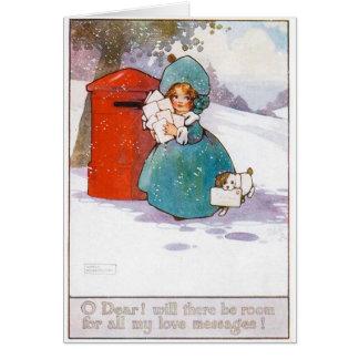 Tarjeta de Navidad del vintage, principios del