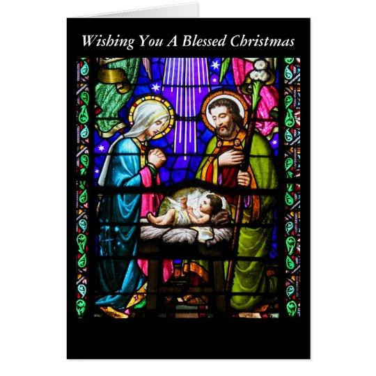 Tarjeta de Navidad del vitral