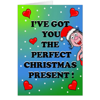 Tarjeta de Navidad descarada