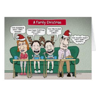 Tarjeta de Navidad divertida de la familia